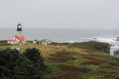 Aerial view of Tatoosh Island and Cape Flattery Light Station